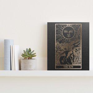 Handmade Gold Foiled The Sun Tarot Print